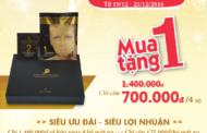 """Khuyến mãi """"SỐC"""" mùa Giáng Sinh: Mua 1 tặng 1 bộ mặt nạ Collagen Vàng Nano VlancVere"""